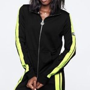VS PINK Black & Neon Yellow Track Jacket